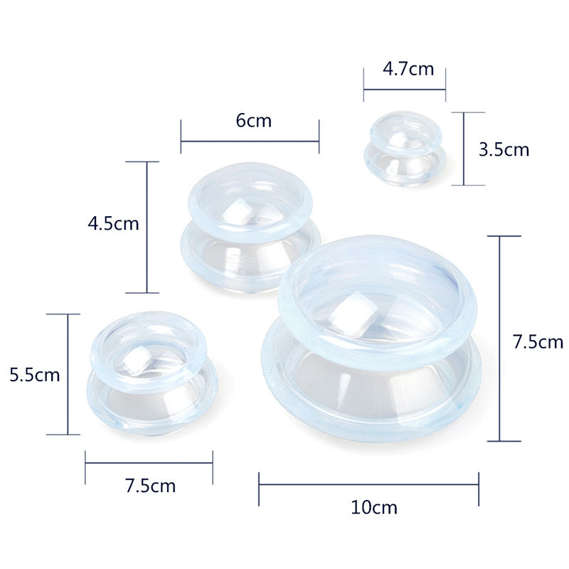 Premium Transparent Silicone Cupping Set Anti Cellulite Cupping jar Slimming Suction Cupping Device Facial Body Massage