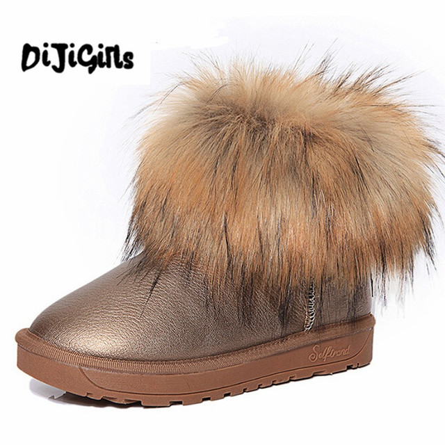 2b294ecce61ff Chaussures Épaisse Fourrure Bottes De Neige de Mode de femmes 2018 Nouveaux  Hiver Coton Chaud Chaussures