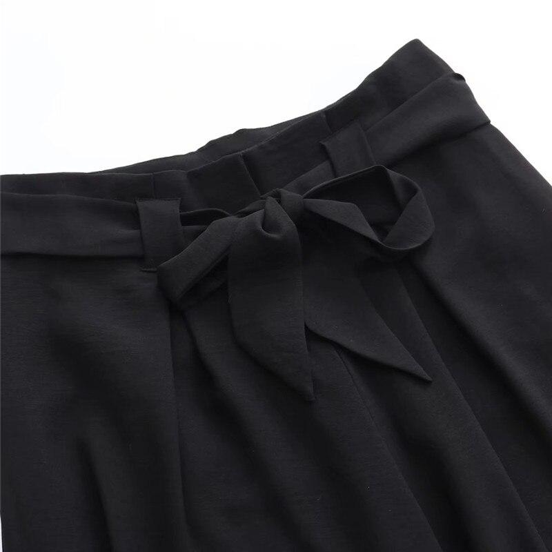 Estados Verano 2018 Negro Nueva Cintura La Pantalones amarillo Mujeres Sólido Pierna Correa Alta Delgada Ancha Mujeres Europa Suelta Color Los Unidos Primavera Moda De Y w55Anqr0x