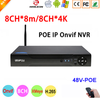 8mp, 5mp, 4mp, 3mp, 2mp, 1mp IP Камера Dahua Панель Hi3536C Xmeye 8CH * 8 M/8CH * 4 K 8-канальный H.265 + 48 V WI-FI PoE ONVIF NVR Бесплатная доставка