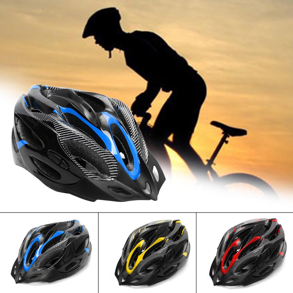 High Safety Adjustable Bicycle Bike Adult Helmet Carbon Fibre Cycling Road Mountain