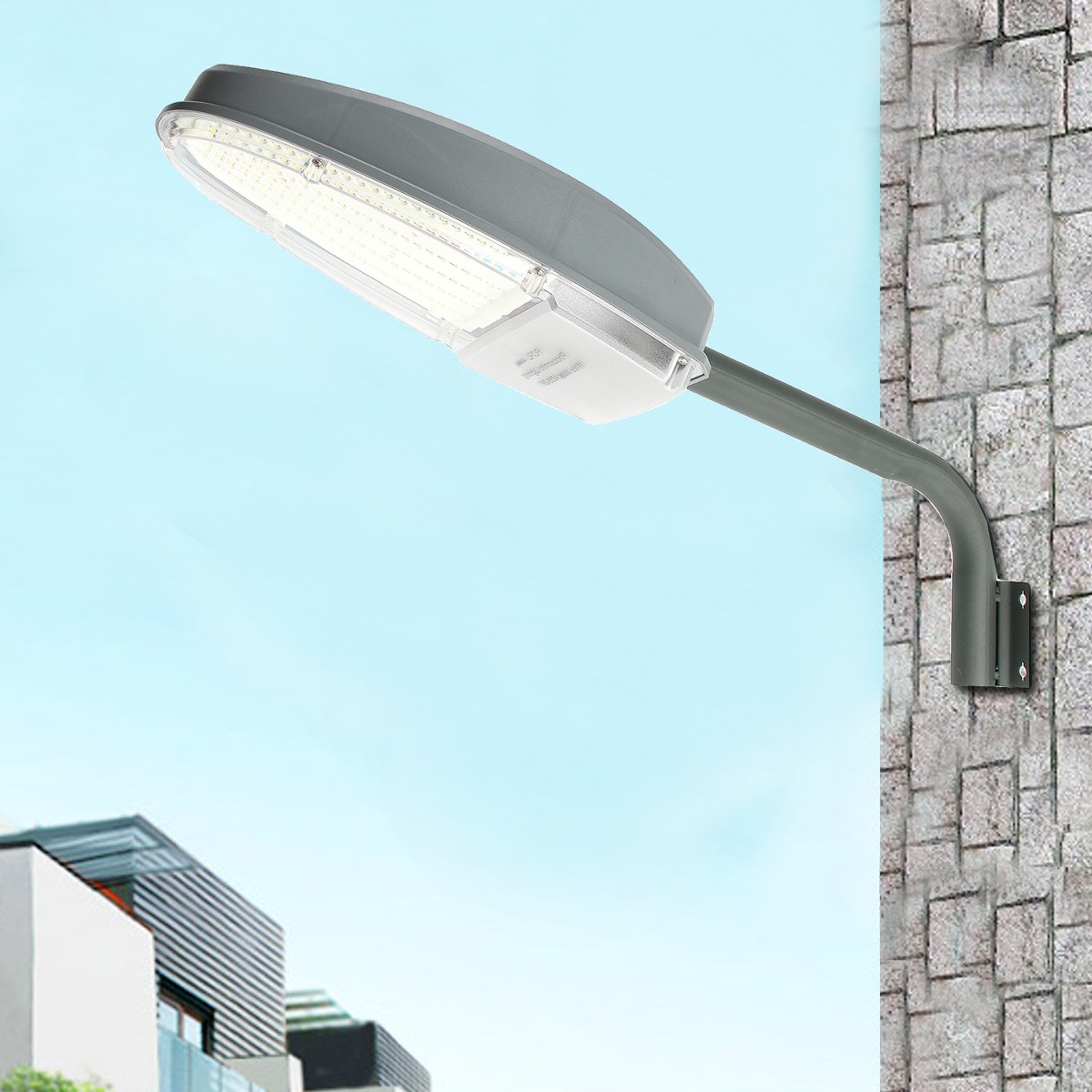 30W Light Sensor 2400LM 144 LED Street Light Garden Road Light Outdoor Waterproof Wall Security Lamp AC85-265V With Mounting Arm