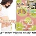 Антицеллюлитный массаж палец кольца педикюр двухместный силиконовые ноги, уход 2 шт. массаж ног masaje ног toe кольца сжигать жир для похудения.