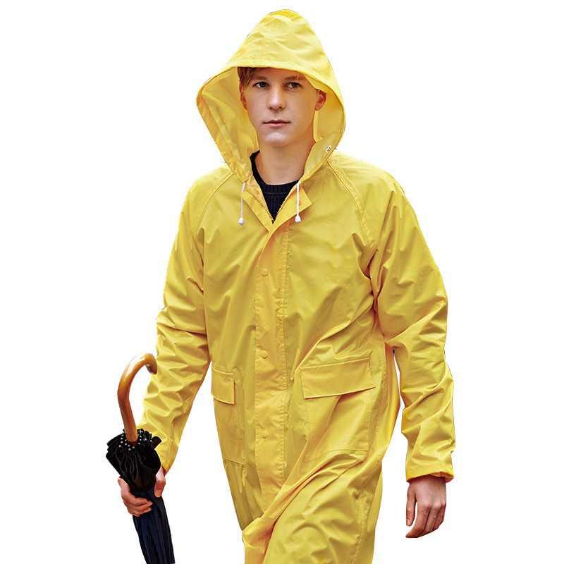 6621eed0fc5 Chubasquero Impermeable para hombre/mujer talla grande S-6XL amarillo  Poncho Camping ropa de