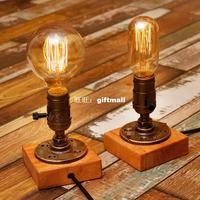 American loft lighting industry retro creative desk lamp Edison personality nostalgic water pipe lamp bar cafe lamps for home