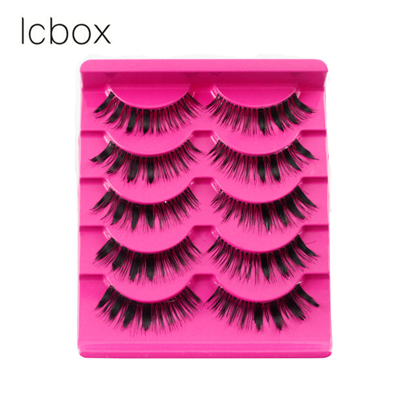 LCBOX handmade Thick False Eyelash soft natural 5 pairs mink lashes natural long artificial hair lashes extension makeup beauty