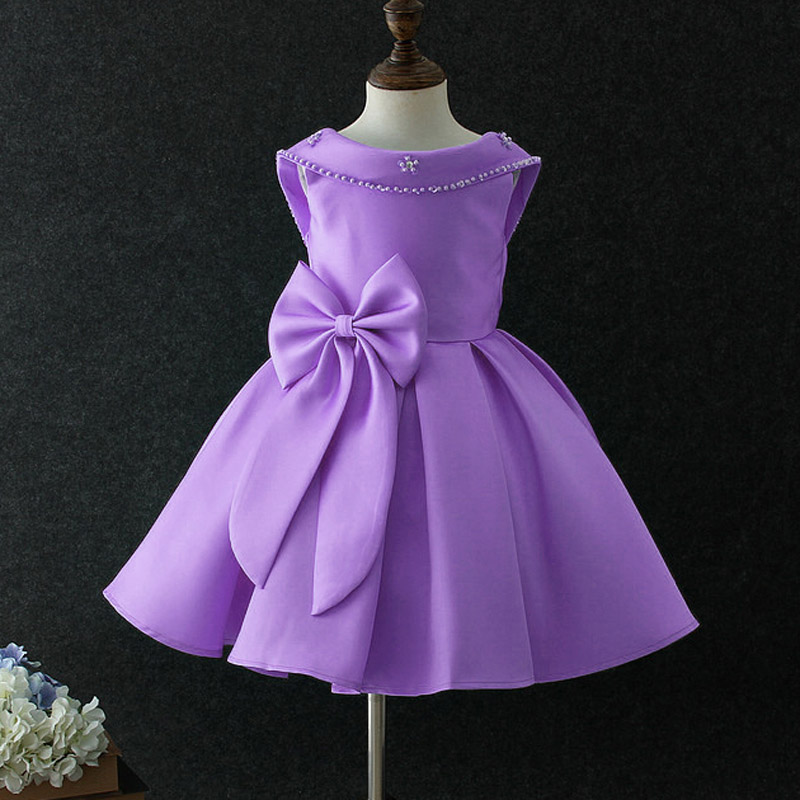 Wholesale 2017 New Girls Princess Wedding Dresses With Bow Children ...