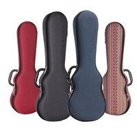Ukulele Box Case Bag Light Weight Soprano Concert Tenor 21 23 26 Inch Ukelele Gray Red