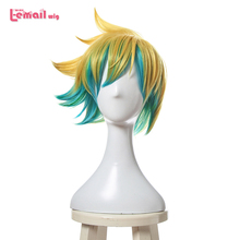 L-email wig New Arrival Game LOL Character Cosplay Wigs 30cm/11.81inch Short Heat Resistant Synthetic Hair Perucas Cosplay Wig