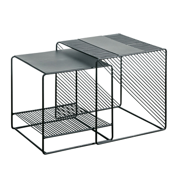 цена на Minimalist wrought iron side table simple modern coffee table Nordic sofa side cabinet corner table creative small table