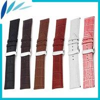 Genuine Leather Watch Band 18mm 20mm 22mm 24mm For MK Strap Wrist Loop Belt Bracelet Black