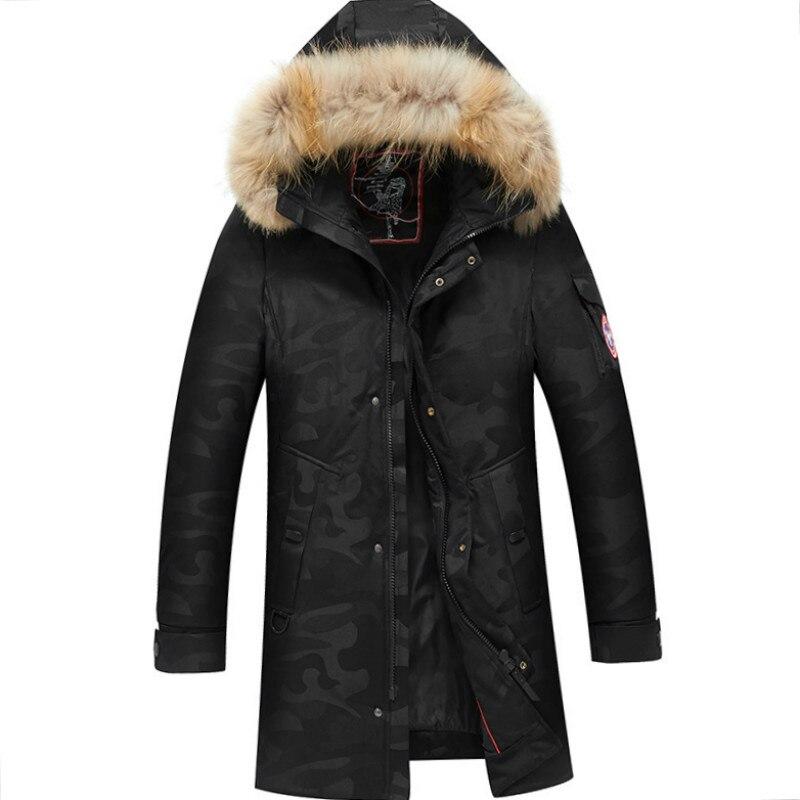 2019 haute qualité 80% blanc canard épais doudoune hommes manteau Snow parkas mâle chaud marque vêtements hiver vers le bas veste d'extérieur