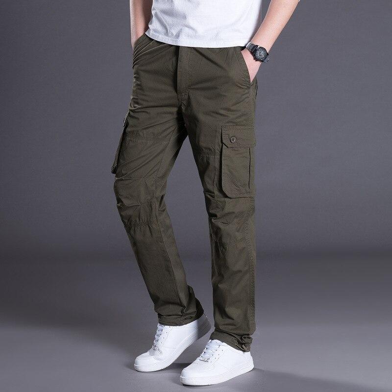 Men Casual Combat Trousers Tactical Work Pocket Camo Cargo Yu Multi-pocket Casual Men's Clothing