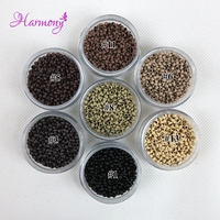 1000pcs Jar 2 5mm Copper Nano Micro Beads Rings Links For Nano Hair Extenstion 7 Color