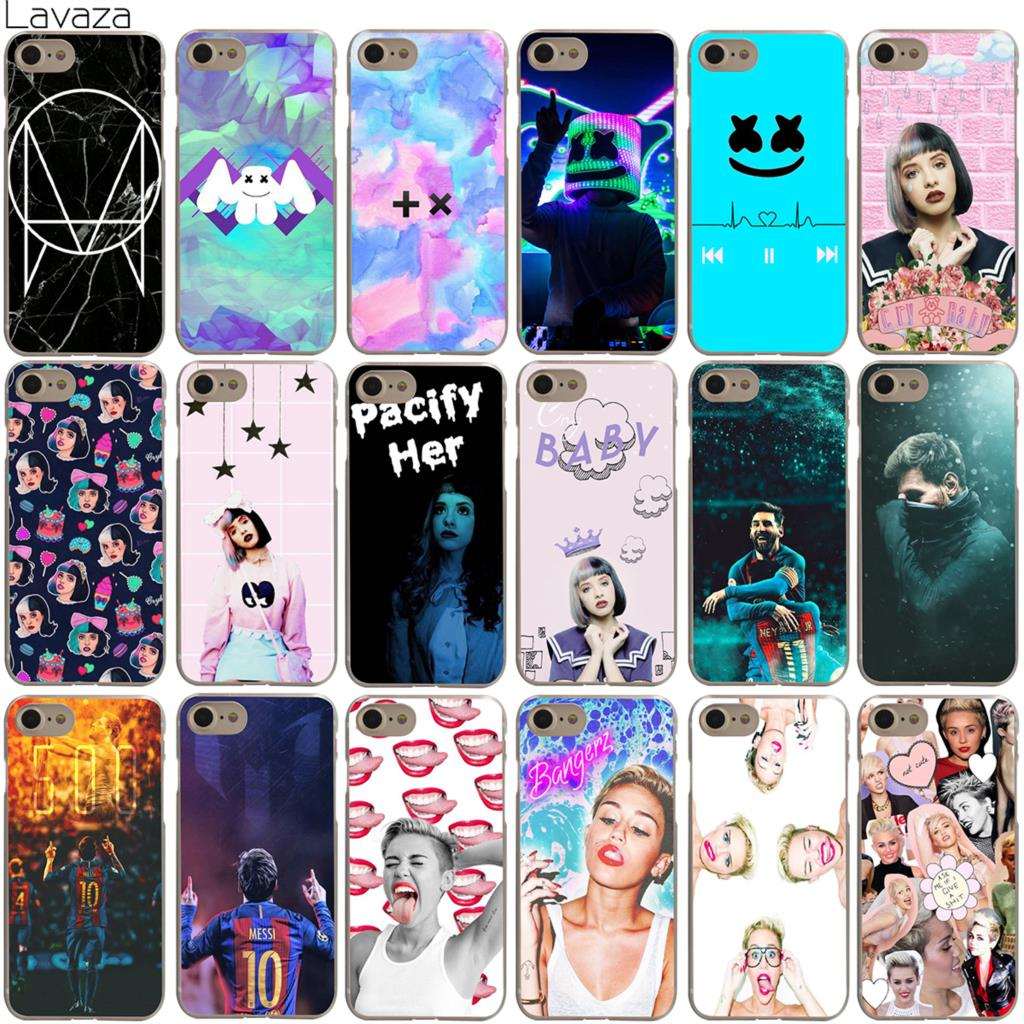 Lavaza Marshmello Handsome Boy Melanie Martinez Messi Miley Cyrus Case for iPhone 4 4S 5 5S SE 6 6S 7 8 X Plus