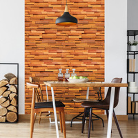 0.45*10m 3D Imitation Brick Wall Sticker Adhesive Wallpaper Waterproof Wall Covering Poster for Living Room Bedroom Restaurant