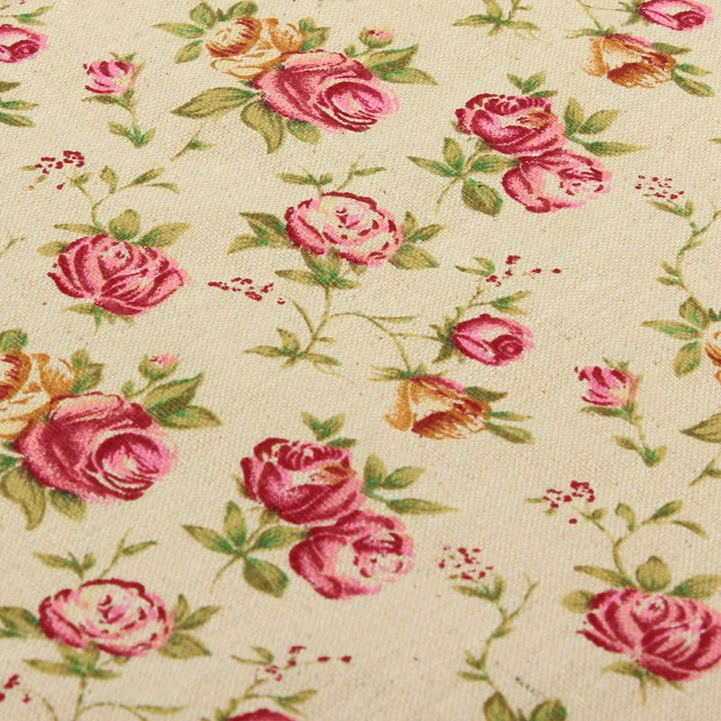 online get cheap rose printed fabric