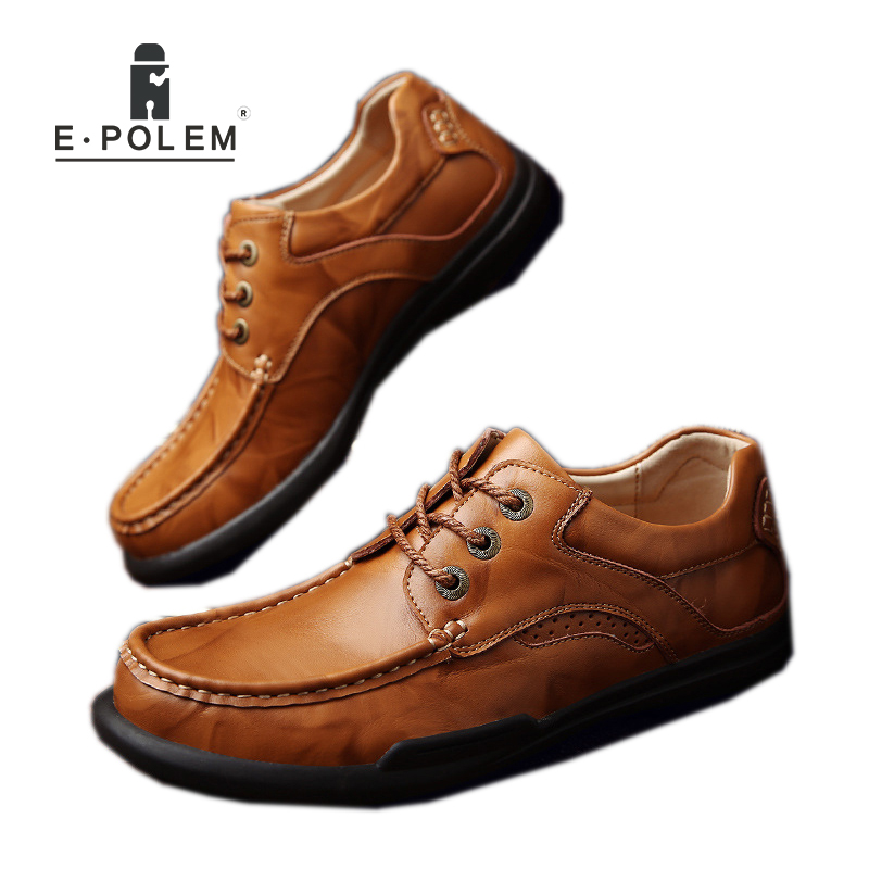 2017 Spring Autumn New Arrival England Style Men Shoes Male Business Casual Genuine Leather Breathable Lace-Up Comfortable Shoes 2017 england style men genuine leather cow new fashion lace up breathable casual shoes male vintage match color black coffee