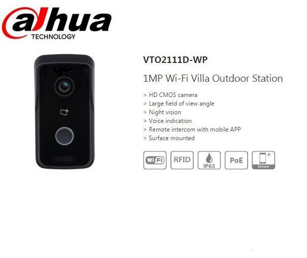 bilder für DAHUA 1MP WiFi Videoanlage Türklingel Villa Außenstation Ohne Logo VTO2111D-WP megapixel nachtsicht sprachanzeige