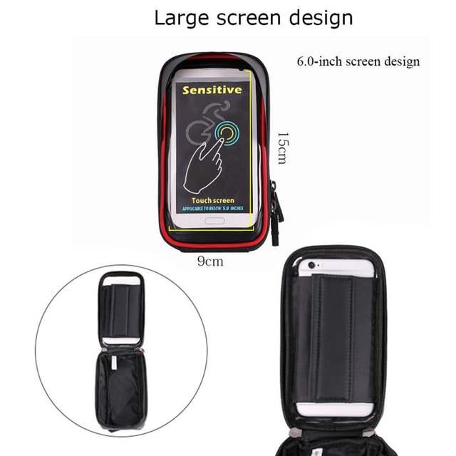 854576e6c7b Online Shop WHEEL UP Bike Bicycle Phone Bag Rainproof Microfiber Touch  Screen Cell Phone Holder Bicycle Handlebar Bags MTB Frame Pouch Bag