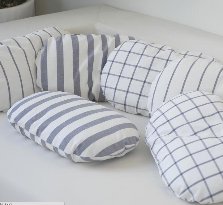 45 30cm Nordic Cotton Linen Striped Cushion Pillow Throw
