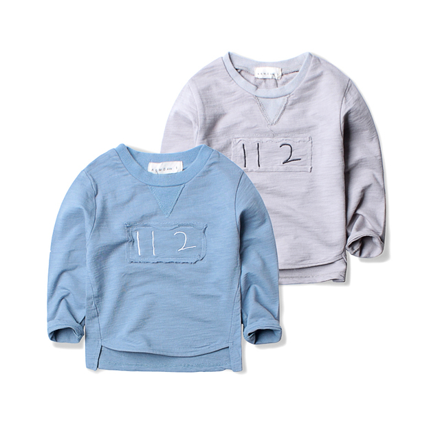 Korean boy long sleeved T-shirt 2017 children roundneck shirt and a baby's coat all-match