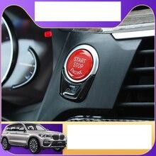 Lsrtw2017 красный abs кнопка запуска двигателя автомобиля Замена для bmw x3 2018 2019 2020 g01 автоматический запуск и кнопка остановки планки