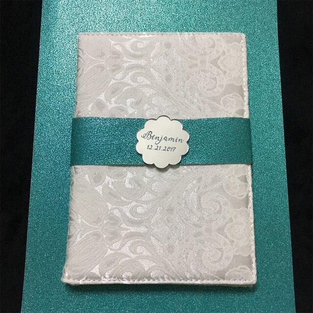 luxury 115x175mm acrylic wedding invitation card with folded
