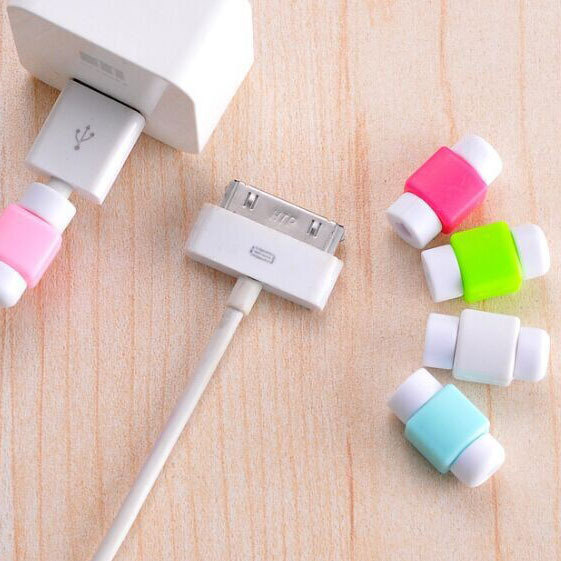 10PCS Fashion colorful USB Data Cable Protector Line Earphone Cable Protective Sleeve For iPhone 5/5s 6/6s For Samsung Android