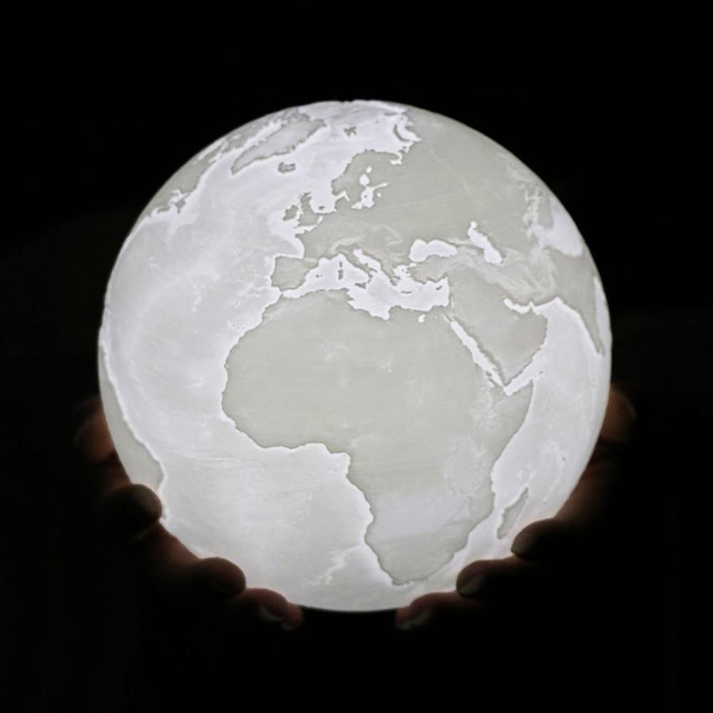 Rechargeable 3D Moon Lamp 2 Color Change