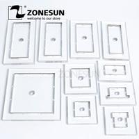 ZONESUN Customized leather punch Steel Blade flower wedding PVC/EVA sheet cutter mold,DIY Watch belt wallet paper cutting die
