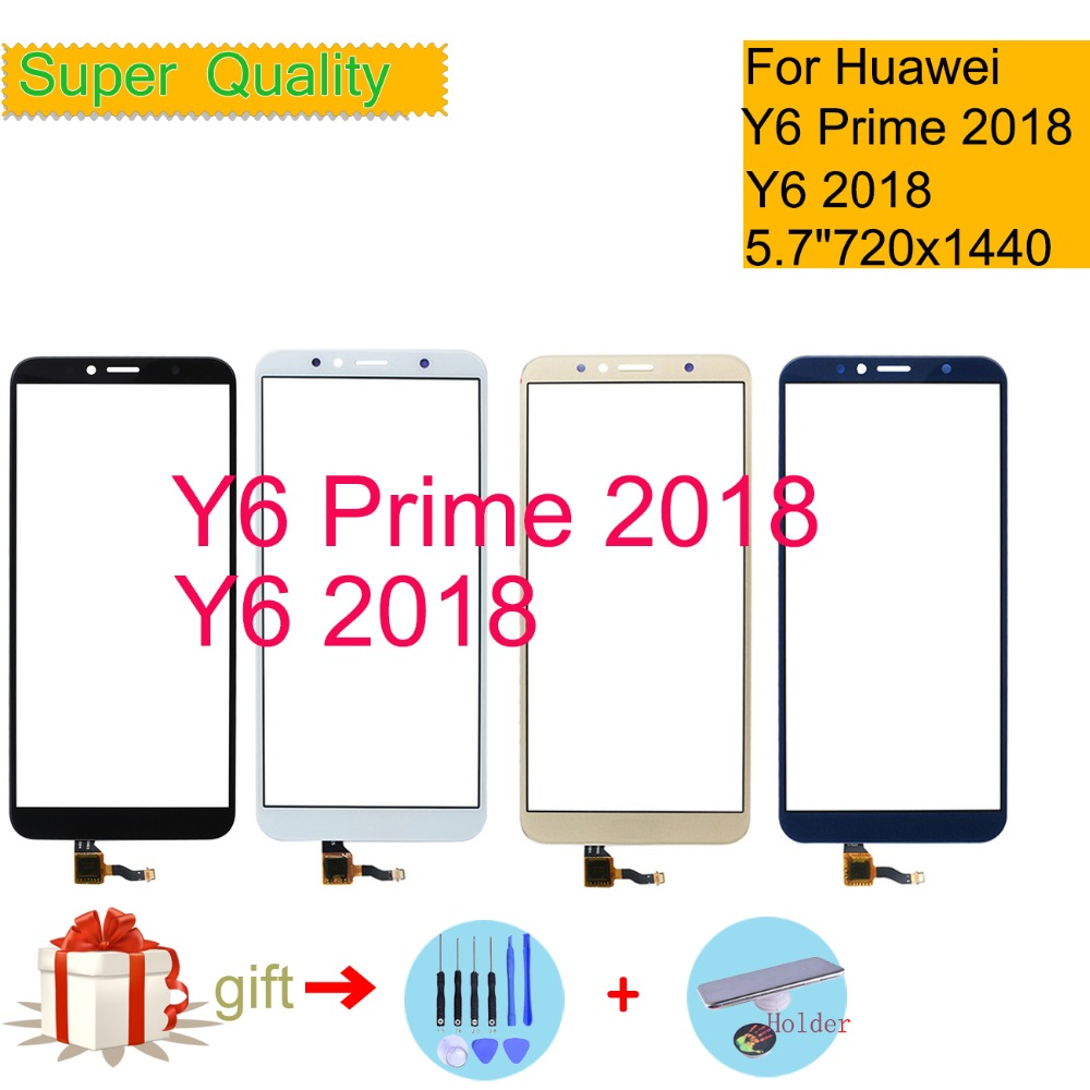 Touchscreen For Huawei Y6 PRIME 2018 ATU-L31 Touch Screen Y6 2018 Touch Panel Sensor Digitizer Front Glass Outer Lens 5.7