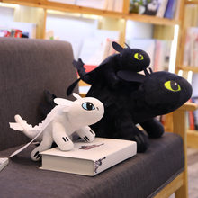 35/45/60cm Toothless Plush Night Fury Anime How to train your dragon Stuffed Dolls Loong Soft Toys