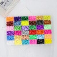 5MM Color Hama Beads Peas Child Handmade DIY 1000Pcs Perler Beads Creative Toys Jigsaw Puzzle Boxed