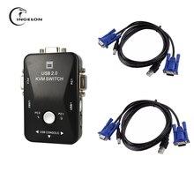 USB 2,0 kvm usb переключатель высокое качество 2 порты и разъёмы usb Switcher 1440* Переключатель SVGA VGA 1920 Splitter Box для компьютера обмен мониторы клавиатура kvm переключатель