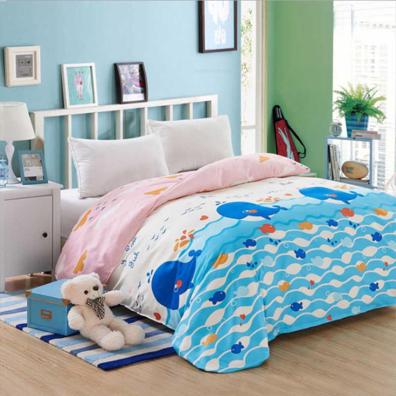 קלאסי מצעי סט 150*200 cm גריי כחול פרח 1 PC שמיכה כיסוי מיטת פסטורל גיליון AB צד שמיכה כיסוי 2019 מיטה