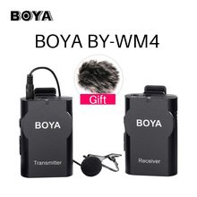 BOYA BY-WM4 Wireless Studio Video Camera Microphone System Condenser Mic Interview for iPhone Camcorder Canon Nikon Pentax DSLR(China)