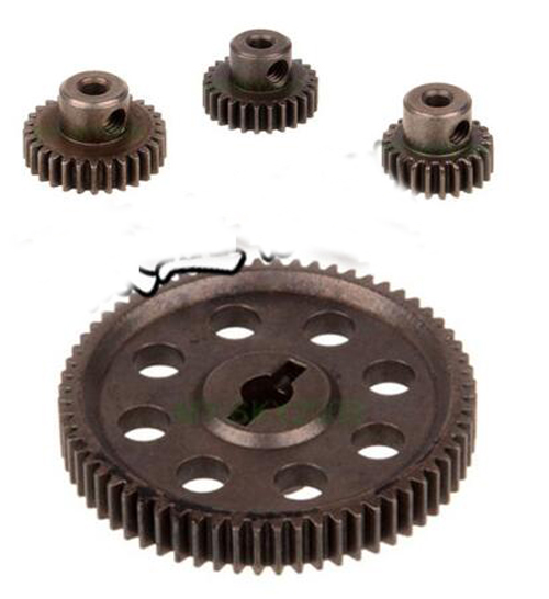 HSP 94111 94123 RC 1/10 11184 & 11176 Differential Steel Metal Gear Motor Gear 64T/21T/29T/17T/26T for 94103 94103pro 94107 9417 hsp 04001 durable 6061 aluminum alloy baseplate for 94111 94107 94170 light purple