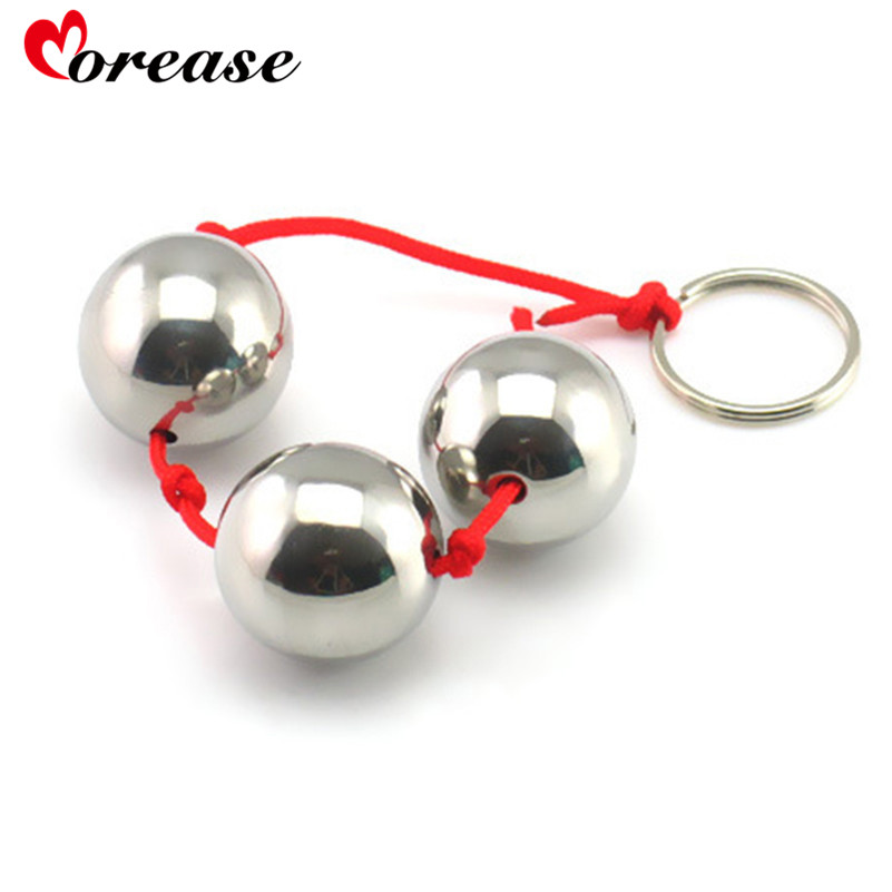 Stainless Steel Anal Beads Metal Smooth Anal Balls Big -8889