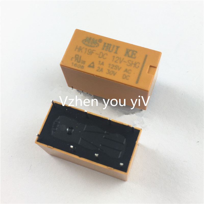 цена на 10pcs/ DC12V 8 pins 2pdt DC 12V SHG Coil DPDT 8 Pin 2NO 2NC Mini Power Relays PCB Type HUI KE HK19F HK19F-DC12V-SHG