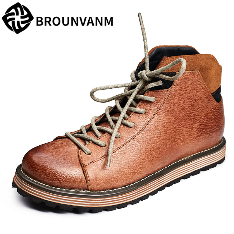 Chinese shoes for men, Martin boots, British high shoes, black short boots, leather high shoes, retro Europe and America, Korean fall trendboots in europe and america heavy bottomed martin boots british style high top shoes shoes boots sneakers