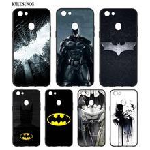 Black Silicon Soft Phone Case Batman Avengers For OPPO F5 F7 F9 A5 A7 R9S R15 R17 Bag