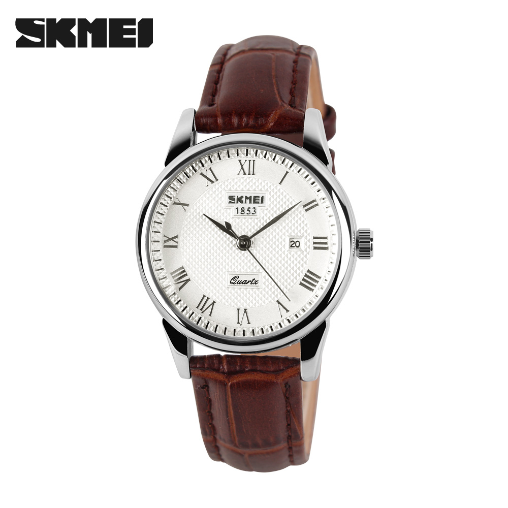 SKMEI Quartz Watch Women Couples Men Top Brand Luxury Time Date Clock Fashion Classic Woman's Watch Wrist relogio feminino 9058