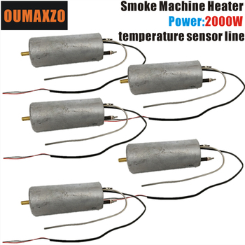 5 unids/lote OUMAXZO 2000W 110V 220V calefactor para máquina de niebla cinturón línea máquina de humo campana hazer etapa Luz