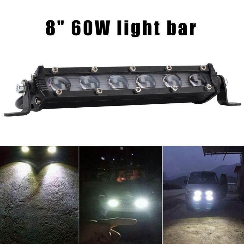 Goede Koop 8 Inch 60 W 6000lm Led Verlichting Bar Koplamp Lens Offroad 4wd Suv Rijden Fog Lamp Goedkoop Koopj48o