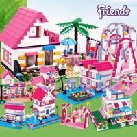 Friends House Building Blocks Figure Serie Set olivia Andrea Windmill Amusement Park Model Brick LegoINGlys friends for girl Toy
