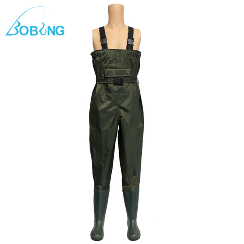 New Nylon Waterproof Green Chest Waders Breathable For Fly Coarse Fishing Sizes 6-12  Fishing Tools Accessories