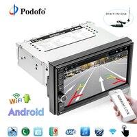 Podofo Авторадио android 1 Дин радио gps навигации WI FI 7 Сенсорный экран DAB радио автомобиля + OBD Bluetooth зеркало ссылка авто радио