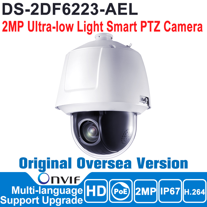 Hikvision  DS-2DF6223-AEL Original English version 2MP PTZ Speed Dome IP camera CCTV camera security camera POE ONVIF P2P HD hikvision ds 2ae5123t a original english version 2mp ptz ip camera cctv security camera surveillance poe onvif 4k hd network