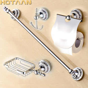 Free shipping,Stainless Steel + ceramic Bathroom Accessories Set,Robe hook,Paper Holder,Towel Bar,Soap basket,bathroom sets, - DISCOUNT ITEM  10% OFF All Category